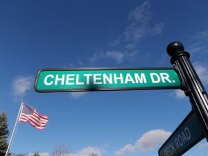 Cheltenham Dr Street Sign Novi MI